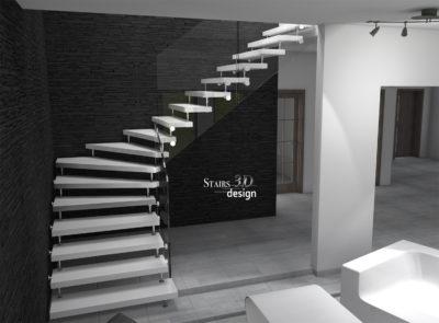 3D vizualizace schodiště