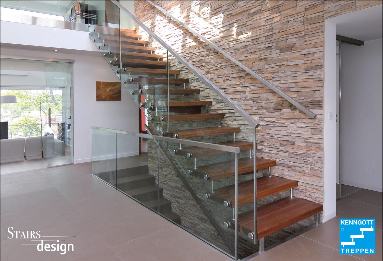 samonosné masivní dřevěné schodiště