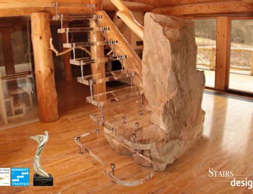Soukromý wellness RD Beroun – samonosné schodiště Acrylglas